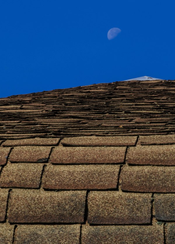 Moon and roof