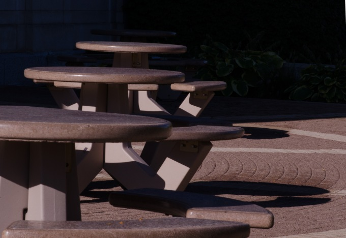Benches, Bricks, & Shadows
