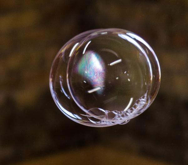 Floating Soap Bubbles