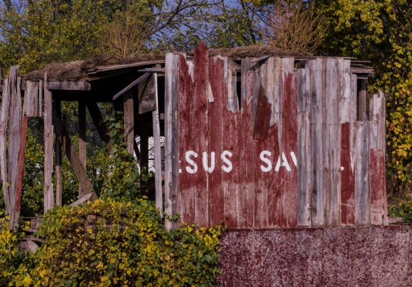 Jesus Saves, but apparently doesn't do barns