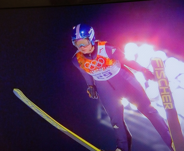 Ski Jumper in Flight