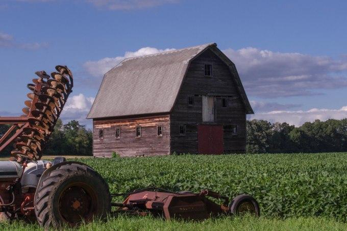 Old Grain Storage Barn