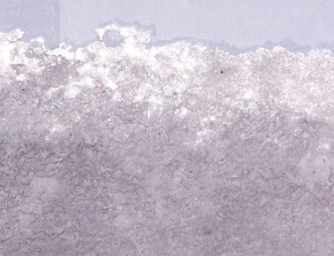 Skylight ice from below