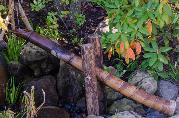 Bamboo water chime
